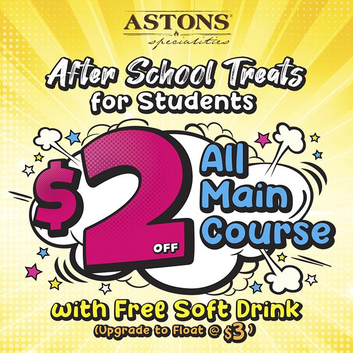 ASTONS Specialities Promo - Student Deals