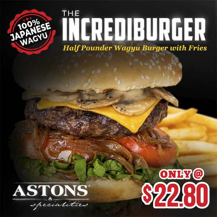 ASTONS Specialities Promo - The IncrediBurger